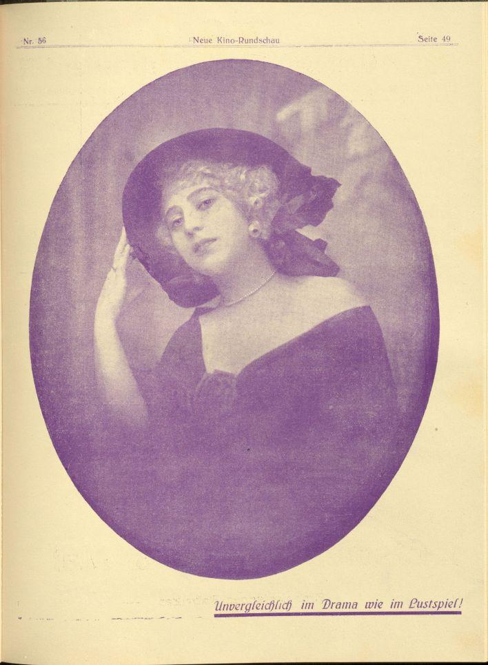 Hedda Vernon in Die Neue Kino Rundschau (1919-03-30)