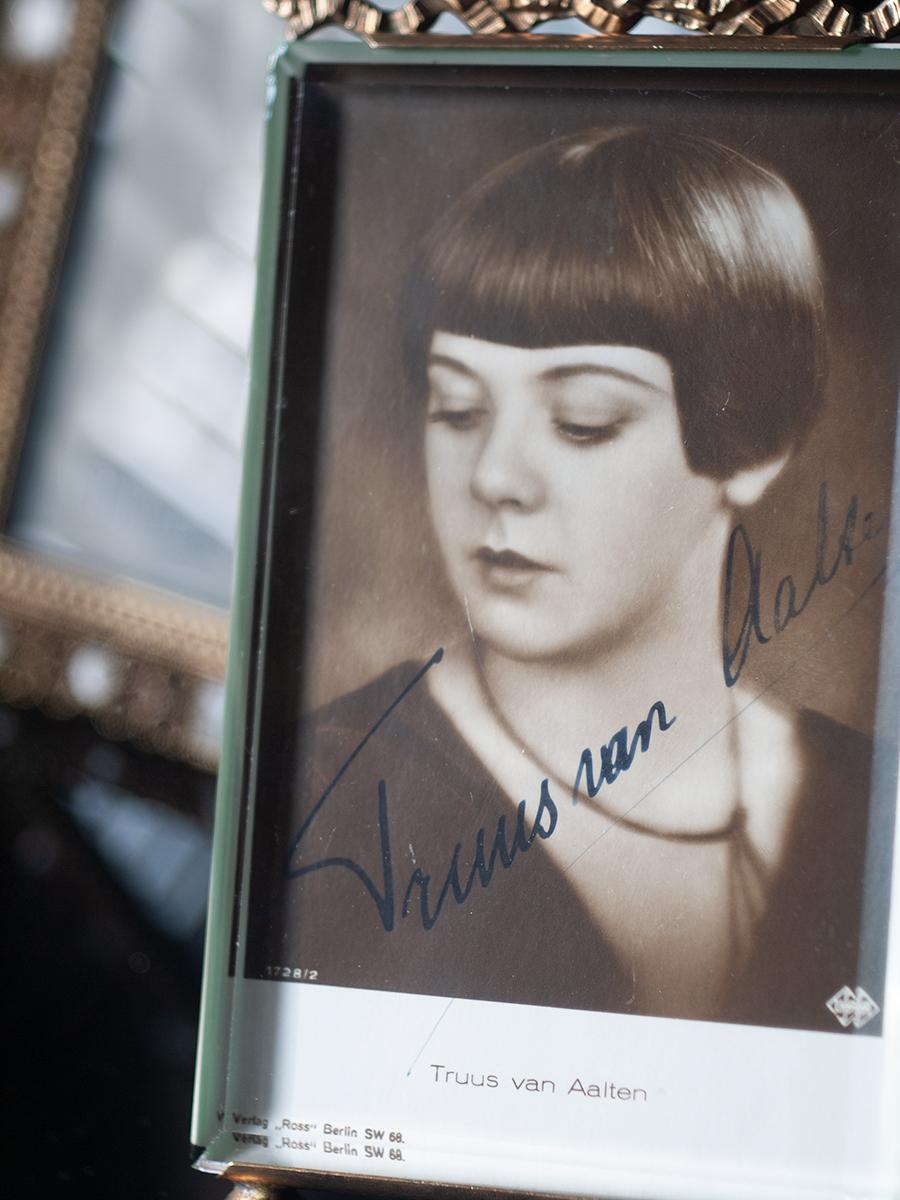 Truus van Aalten Autographed Postcard