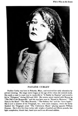 Pauline Curley on Who's Who on the Screen (1920)