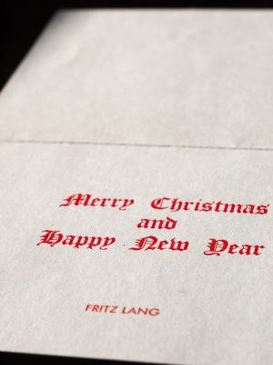フリッツ・ラングのクリスマスカード 00