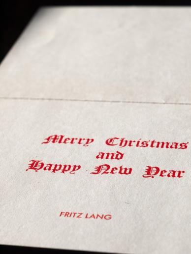 フリッツ・ラングのクリスマカード 00