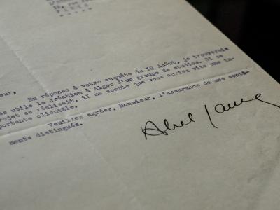 Abel Gance 1935 Typed Letter