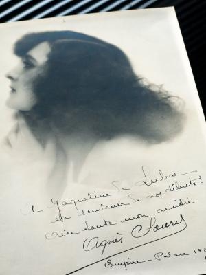 Agnes Souret 1927 Autographed Photo