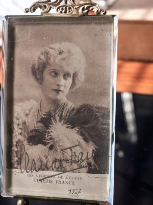 Claude France 1927 Autographed Postcard
