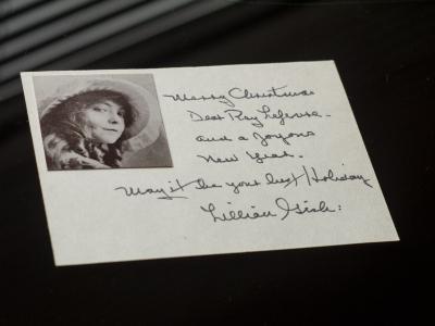 Lillian Gish Autographed Card