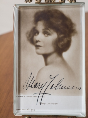 Mary Johnson Autographed Postcard