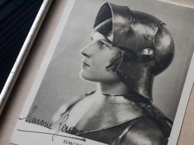 Simone Genevois c1930 Autographed Photo