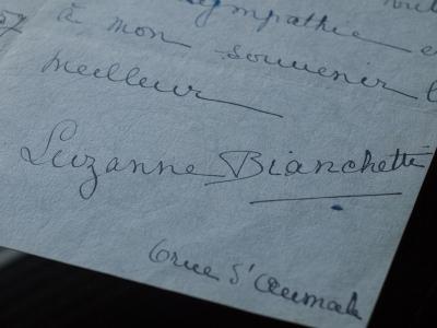 Suzanne Bianchetti lettre