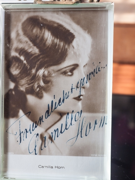 Camilla Horn Leni Riefenstahl Autograph/Autogramm/Autographe/Autografo
