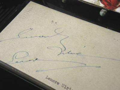 Lenore Ulrich Autograph