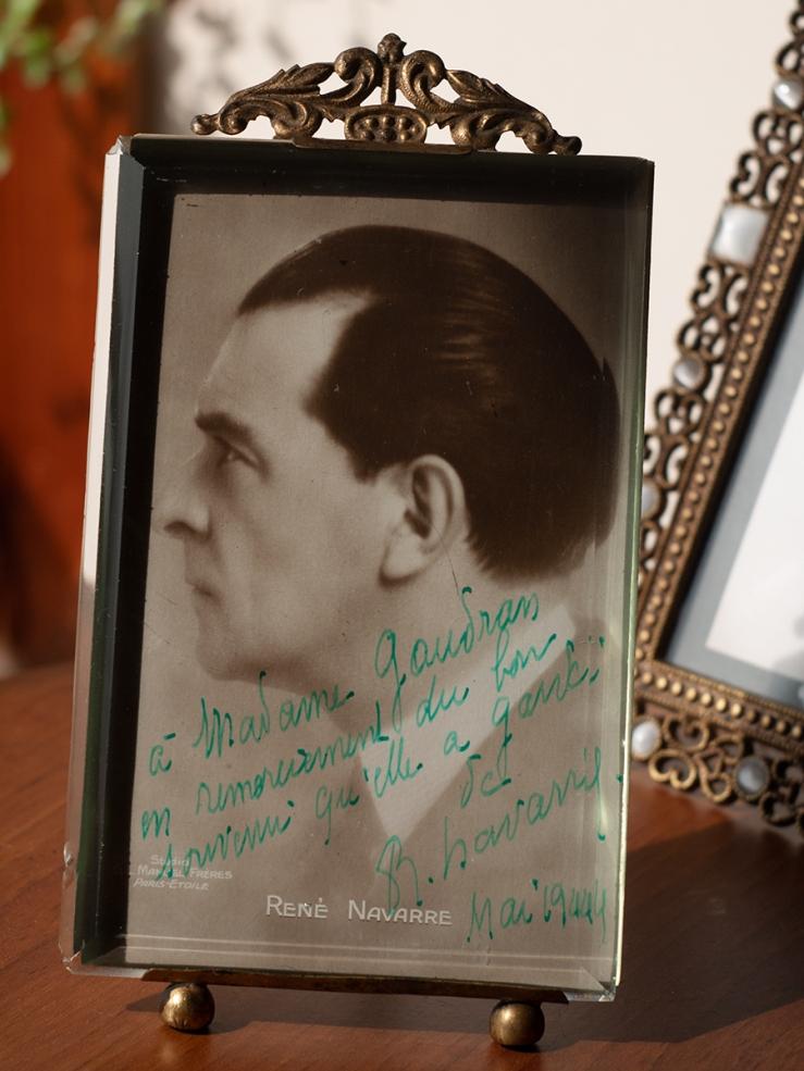 René Navarre 1944 Autograph/Autogaphe/Autogramm