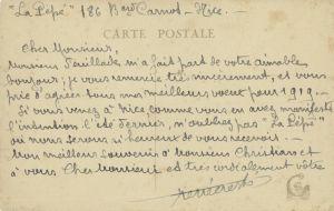 René Cresté 1918 Hand-written Letter