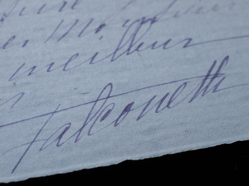 ファルコネッティの書簡(署名)