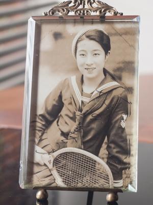 Tsubouchi Yoshiko Autographed Postcard