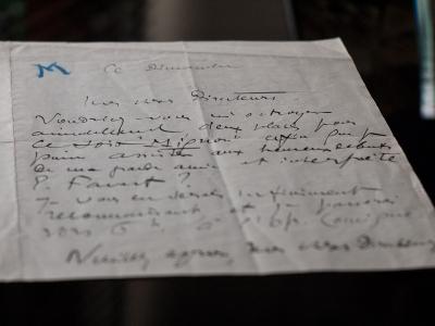 エドゥアール・マテ直筆書簡