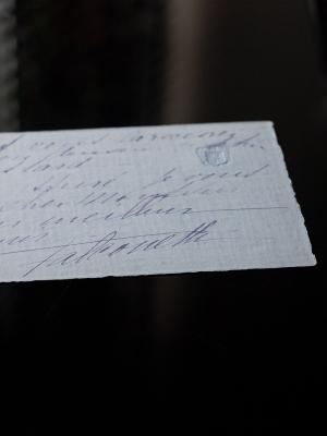 Falconetti Hand-written Letter