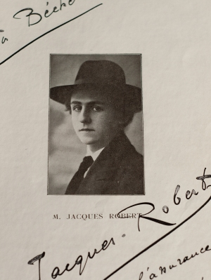 Jacques Robert 1916 Dedicace