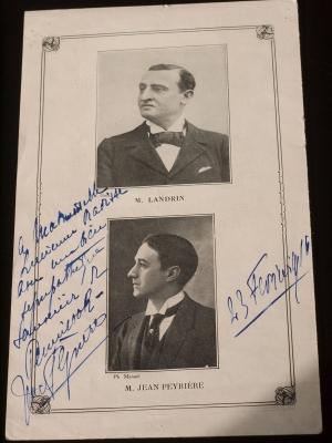 Jean Peyriere Autographe