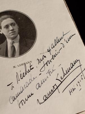 Maurice Lehmann 1916 Dedicace