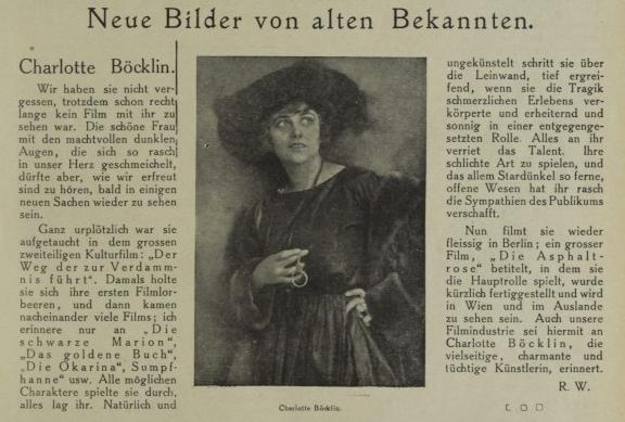 Die Filmwelt 1922-04-07 Charlotte Böcklin