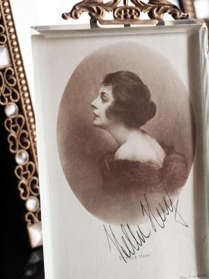 Stella Harf Autographed Postcard