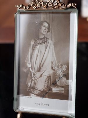 Erna Morena Autographed Postcard