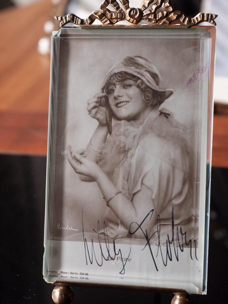 Lilly Flohr Autographed Postcard