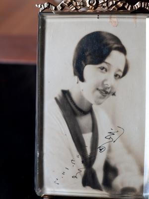 Okada Yoshiko Autographed Postcard
