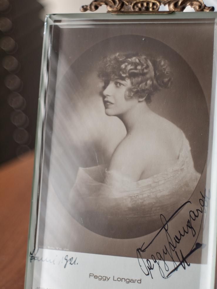 Peggy Longard c1920 Autographed Postcard