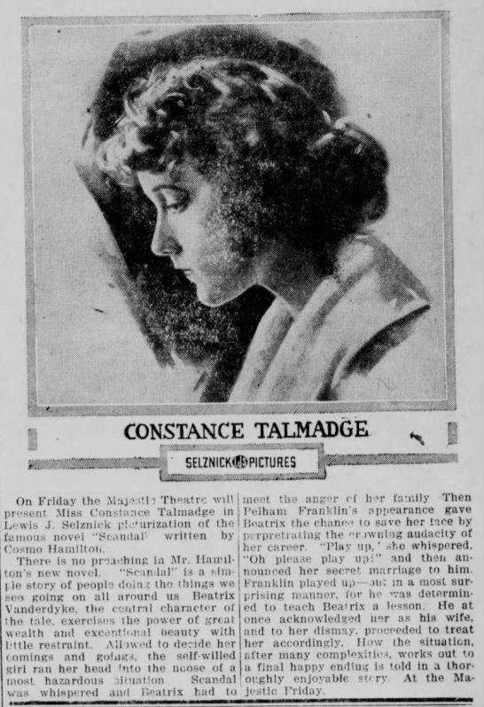 1917年12月6日付 『スキャンダル』宣伝記事