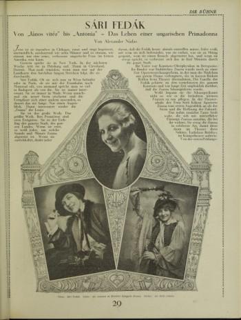 Fedák Sári in Die Buhne (1924-07-31)