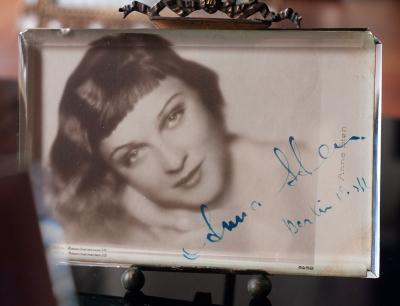 Anna Sten Autographed Postcard