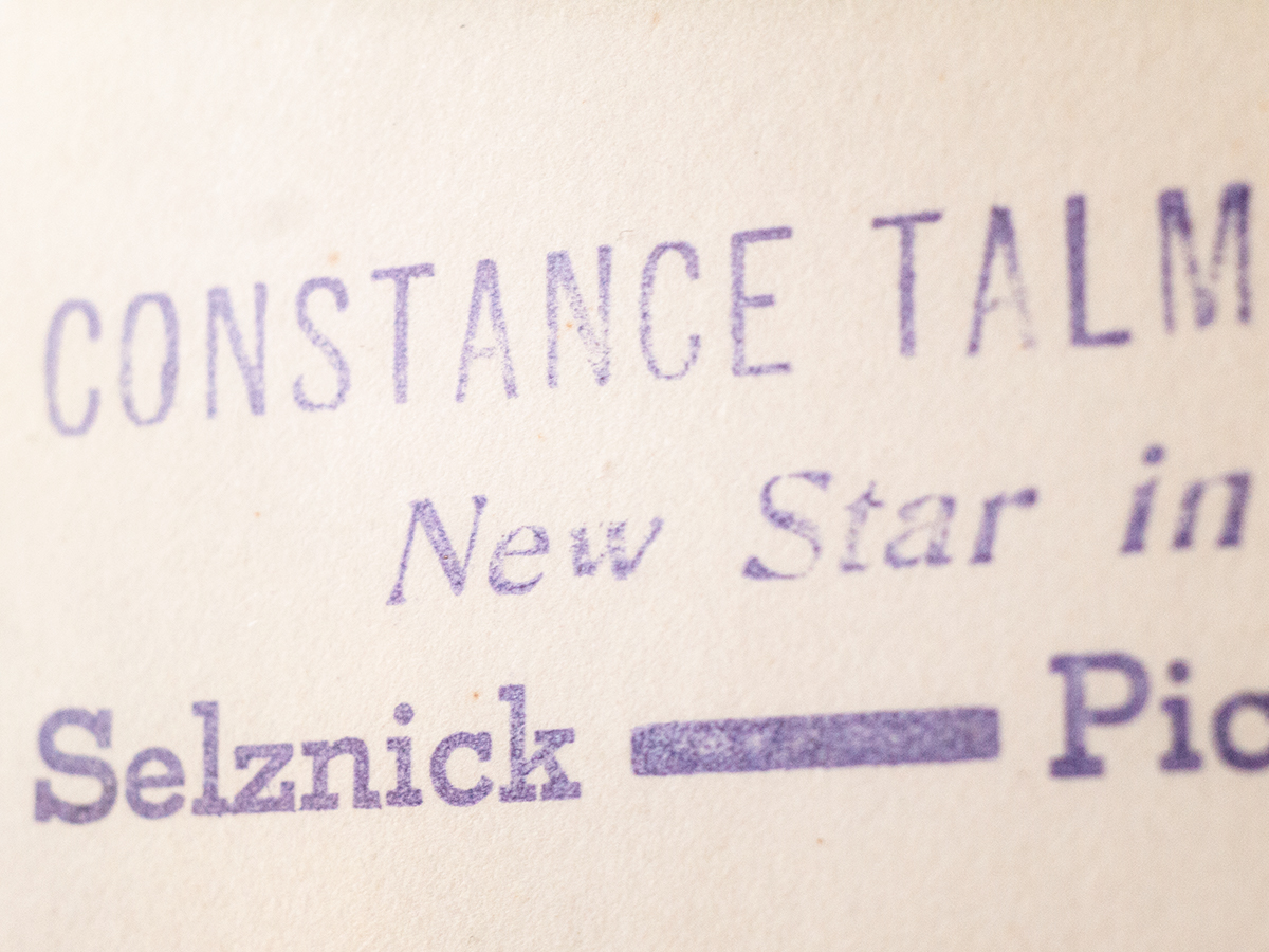 """Constance Talmadge New Star om Selznick Pictures"