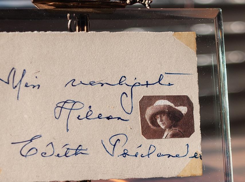 Edith Buemann Psilander 1950s Leafcut Autograph