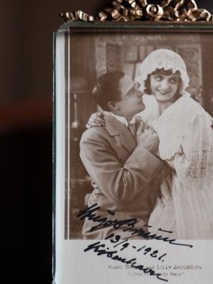 Hugo Bruun 1921 Autogrphed Postcard