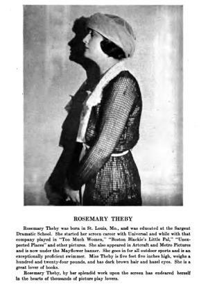 Rosemary Theby in Who's Who on the Screen (1920)