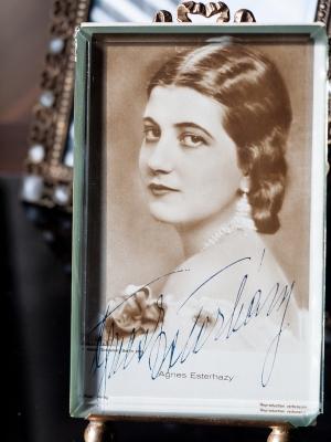 Agnes Esterhazy Autographed Postcard