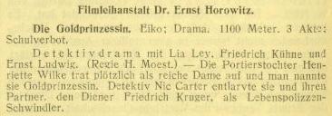 Lya Ley in H. Moest's Die Goldprinzessin (1918-04)