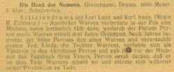 Lori Leux in Die Hand der Nemesis (Der Kinobesitzer, 1918-10-05)