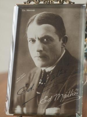 Edouard Mathé Autographed Postcard