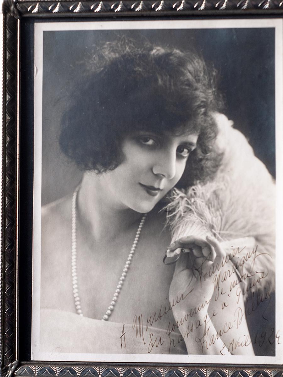 France Dhélia 1924 Inscribed Photo