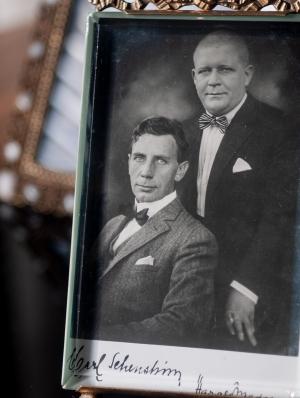 Fy og Bi : Carl Schenstrøm & Harald Madsen Autographed Postcard