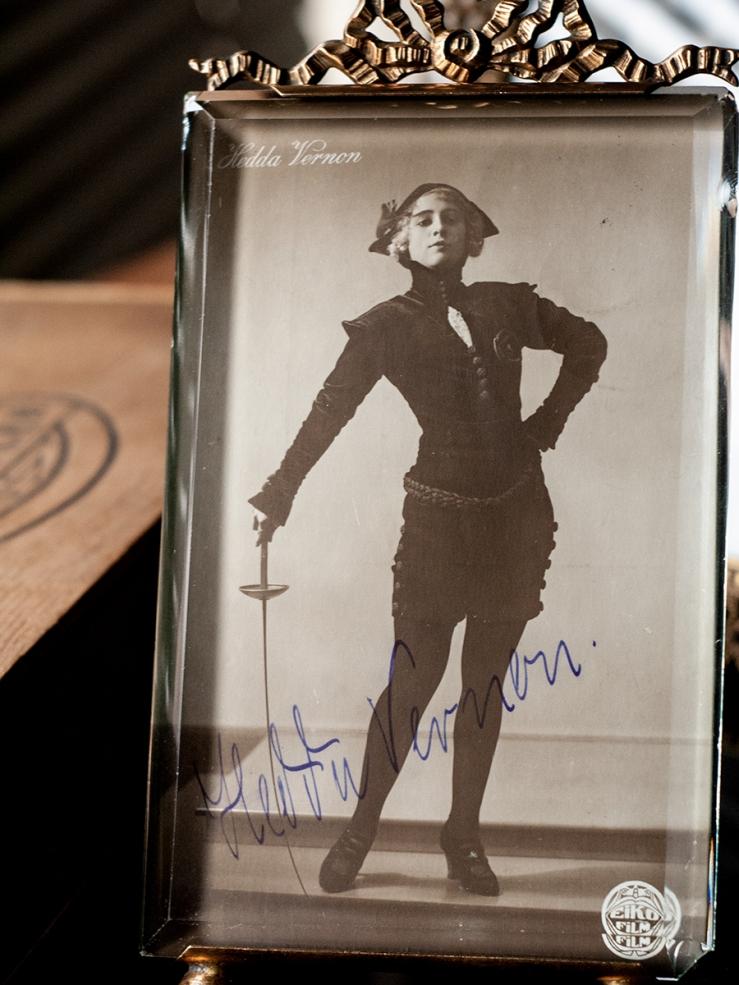 Hedda Vernon Autographed Postcard