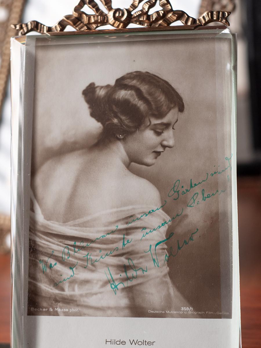 Hilde Wolter c1920 Inscribed Postcard