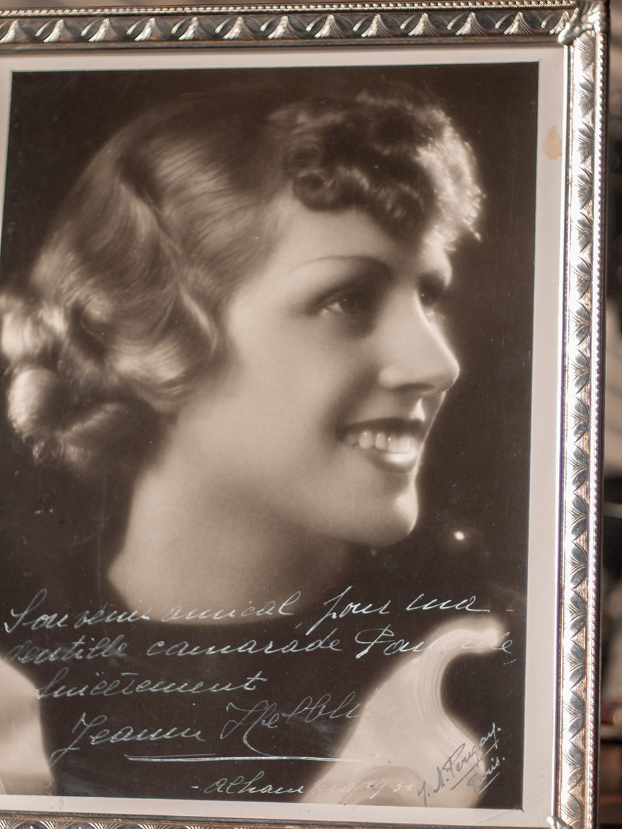 Jeanne Helbling 1935 Inscribed Photo
