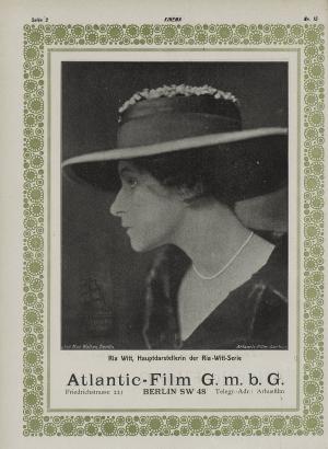 Ria Witt in Kinema (Zurich, 1919) No15