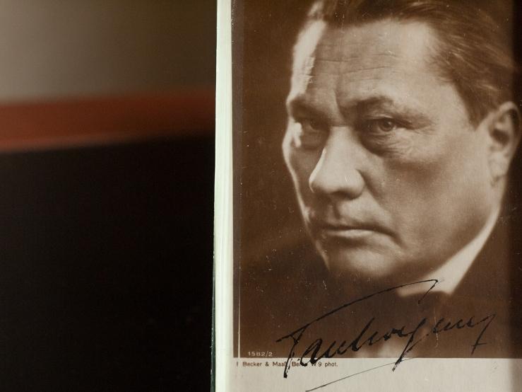Paul Wegener Autographed Postcard