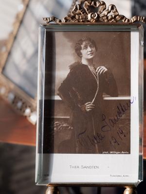 Thea Sandten 1919 Autographed Postcard
