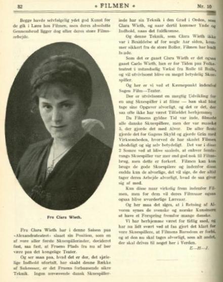 Clara Wieth in Filmen (1915)