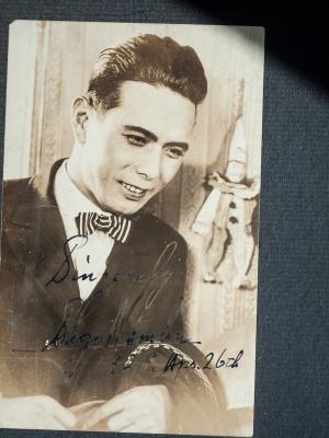 Nanbu Shozo 1928 Autographed Postcard